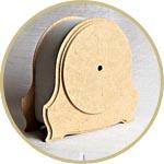Часы настольные, каминные, заготовка из папье-маше, 18 см