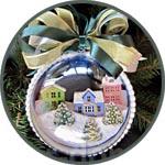 Новогодний шар с зимними домиками