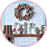 Декоративные элементы рельефные, Прованс, кухонная полка и веночек из роз