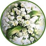 Цветы на медальонах, бумага для декупажа рисовая Impressio, А4
