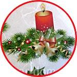 Новогодние украшения с еловыми ветками, бумага для декупажа рисовая Impressio, А4