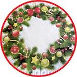 Рождественские веночки, бумага для декупажа рисовая Impressio, А4