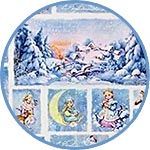Бумага для новогоднего декупажа Зимняя сказка