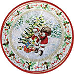 Шарики с Санта-Клаусом, бумага для декупажа рисовая Impressio, А4