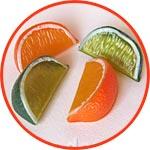 Дольки апельсина и лайма, 5,5 см, 4 шт