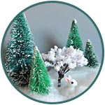 Ёлочки и деревья для миниатюры
