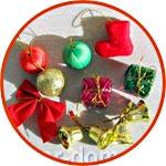 Ёлочные украшения и подарки мини, набор 11 предметов