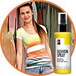 Декор футболки, краски Fashion Spray, мастер-класс