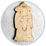 Дед Мороз, фигурка-подвеска фанерная