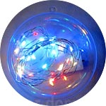 Гирлянда с микро-лампочками, на батарейке, разноцветная