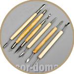 Инструменты для лепки, стеки, набор 6 предметов