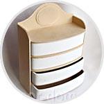 Комод-шкатулка из папье-маше и мдф, 4 ящика, 26х13х35 см