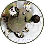 Набор для валяния игрушки на основе из пенопласта, 917, Веселая Крыса