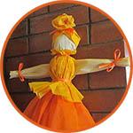 Кукла-Масленица из гофрированной бумаги, как сделать