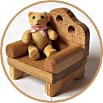 Кресло деревянное игрушечное, Тедди