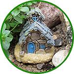 Домик гнома, 4,5 см, коричневая крыша