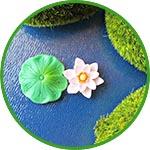 Водяная лилия мини, 1-2 см, 3 детали