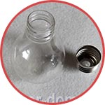 Лампочка прозрачная пластиковая, 6х10 см, съемный цоколь