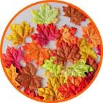 Кленовые листья осенние, ассорти, 8 см, 50 шт.