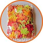 Кленовые листья осенние, ассорти, 8 см, 500 шт., большая упаковка