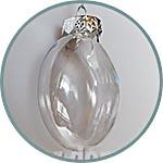 Медальон, 8 см, шар плоский, прозрачный, пластиковый, цельный