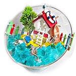 Морская миниатюра в прозрачном шаре, мастер-класс