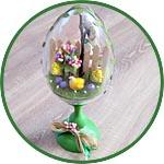 Пасхальная миниатюра в прозрачном яйце, мастер-класс