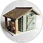 Сарайчик с дровами, 8 см, авторская миниатюра