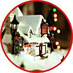 Кукольная рождественская сценка с фонариками