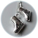 Коньки фигурные 20 мм, подвески, пара на цепочке