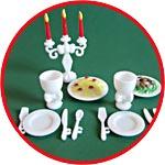 Ужин при свечах, набор мини-посуды