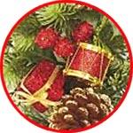 Ёлочные украшения и подарки, набор с барабанами