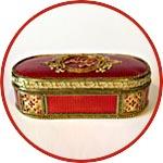 Очешник большой из папье-маше, декор Татьяны Новичковой