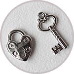 Замочки-сердечки и ключики, набор подвесок Efco