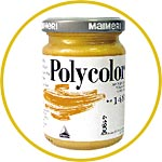 Краска акриловая Поликолор богатое золото, 140 мл