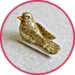 Птичка миниатюрная золотая