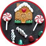 Пуговицы для декора, Рождественский пряничный домик