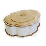 Шкатулка из папье-маше фигурная, 052 с панно на крышке