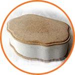 Шкатулка папье-маше, Корона, 14х9,5х5 см