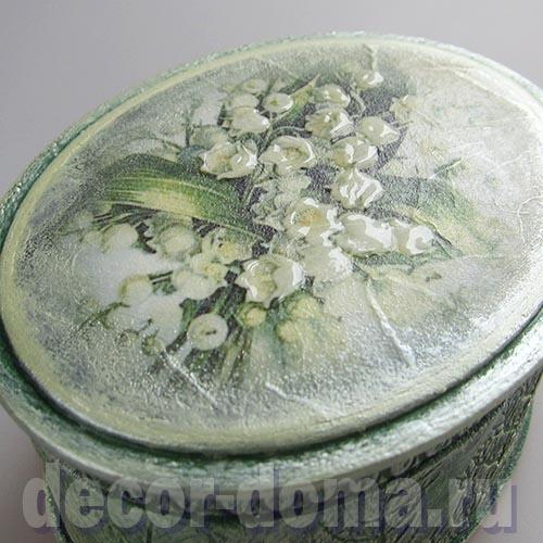 Цветы ландыша, выделенные 3D гелем