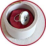 Шкатулка из папье-маше круглая маленькая, 6 см, высота 6 см