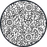 Набор силиконовых штампов Stamperia, 073, Экслибрис и цветочные текстуры