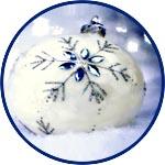 Медальон, шар плоский из прозрачного пластика, 8 см, неразъемный