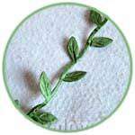 Зеленые листики, тесьма декоративная, 2 м