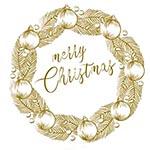 Трансфер-натирка Cadence RUB ON, 30х42 см, № 09 рождественские украшения, цвет золото