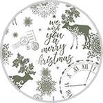 Трансфер-натирка Cadence RUB ON, 30х42 см, № 04 Merry Christmas, цвет серебро