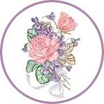 Трансфер Cadence Floral Collection, 25х35 см, № 206 розы и фиалки