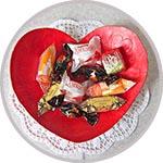 Валентинка-конфетница из массы DAS, мастер-класс по лепке