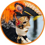 Вольто, лицо, венецианская маска из папье-маше