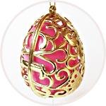 Яйцо золотое ажурное, подвесное, футляр для пасхальных яиц